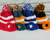 Girls Sports Team Hat, Pick your Own Colors, Girls kids team Hat, Baby Toddler Flower Sports Hat, Youth Sports Hat, Tigers Bears Dolphins