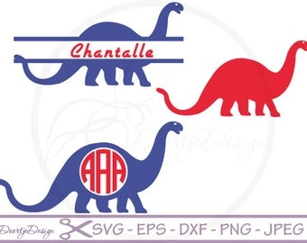 Monogram Dinosaur cutting file, SVG files for cricut, Dinosaur cutting files, clipart Dino, digital drawing, instant download, EPS files