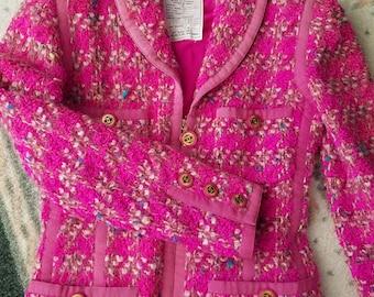 1996 Vintage Chanel Jacket Famous Scuba Collection! Size 36