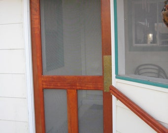 Victorian Balusters Cypress Screen Door