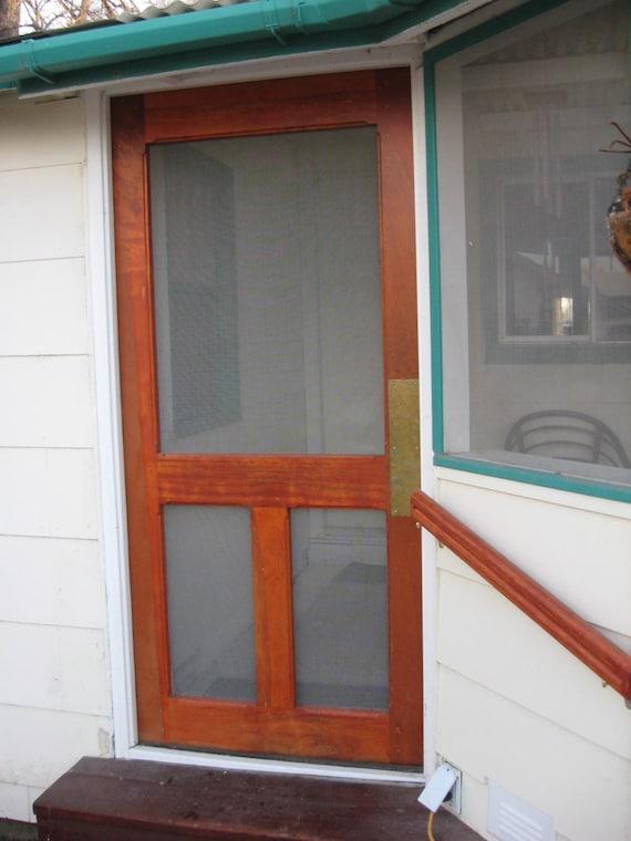 Custom wood screen door from evanscustomwoodwork on etsy