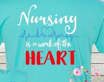 Monogrammed Nursing is a Work of the Heart Monogram Nurse RN LPN