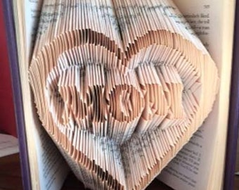 Folded Book Art Pattern Mom Pattern Mother's Day Gift
