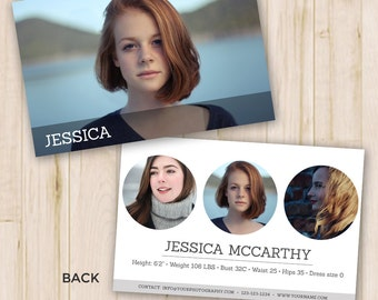 modeling comp card modeling comp card template photoshop templates