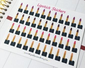 Lipstick Planner Stickers
