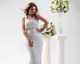 WEDDING SKIRT, Mermmaid Style Bustle Skirt, Bridal Separates Skirt, Bridal Skirt Separates, Bridal Skirt, Bustle skirt