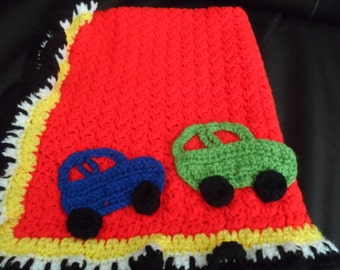 Car Applique Baby Blanket