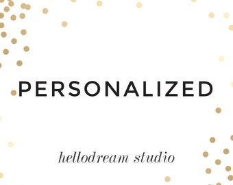 Personalization for BRIDAL SHOWER GAME  (One Listing)