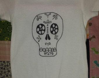 3-6M Sugar skull onesie