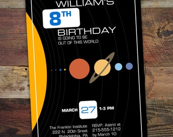 Printable, DIY Solar System / Astronomy Birthday Party (SL002)