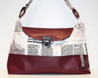 L. shoulder bags - paper/leather Red