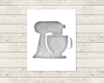 KitchenAid Digital Print -- Instant Download -- Kitchen Wall Art -- Stand Mixer