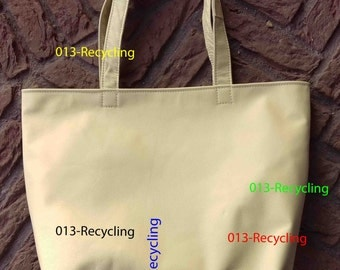 Basic Tote/Basis Tote recycled Leather/Leer_03_type light Beige  / licht Beige
