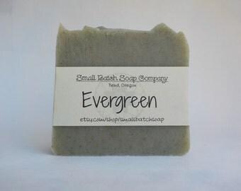 Evergreen Soap Bar, Cedarwood Soap, All Natural Soap, Vegan Soap, Woodsy Soap, Green Soap, Tea Tree Soap, Body Soap, Handmade, Palm Free