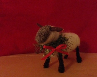 Wool Needle Felted Sheep