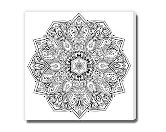 Kaleidoscopic Mandala Coloring Canvas