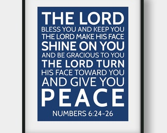 50% OFF The Lord Bless You And Keep You, Bible Verse Print, Numbers 6:24-26, Christian Decor,  Bible Verse Gift, Printable Scripture