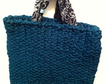 Knitted Cotton Tote Bag