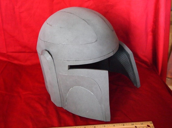 raw eva foam mandalorian or boba fett style helmet. Black Bedroom Furniture Sets. Home Design Ideas