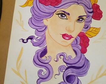 Purple painted lady