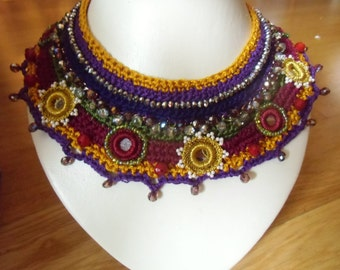 Purple crochet