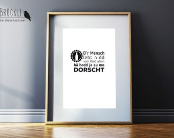 A4 print / mural / poster / Kassel / Hesse / dialect / home / dialect