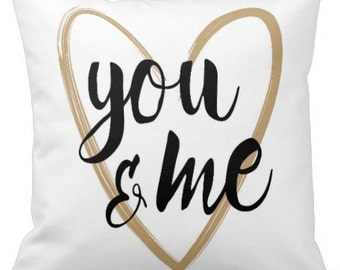 You & Me - Decorative Pillow, Throw Cushion, Pillow Cover, Decor, Throw Pillow, Cushion
