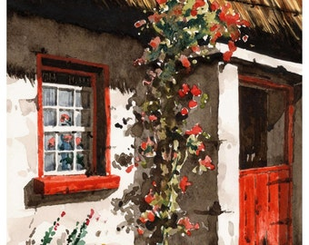 The Red Half Door   19x13'' Ltd Ed Giclee Print