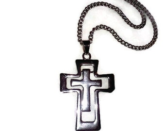 Cross Charm and Necklace