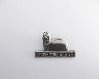 yorkshire Dog, Lapel Pin, Silver yorkshire, yorkshire dog gifts, yorkshire Brooche, yorkshire Lapel Pin, yorkshire terrier, yorkie Jewelry,