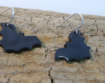 Whitby JetHandcrafted  Bat Earrings