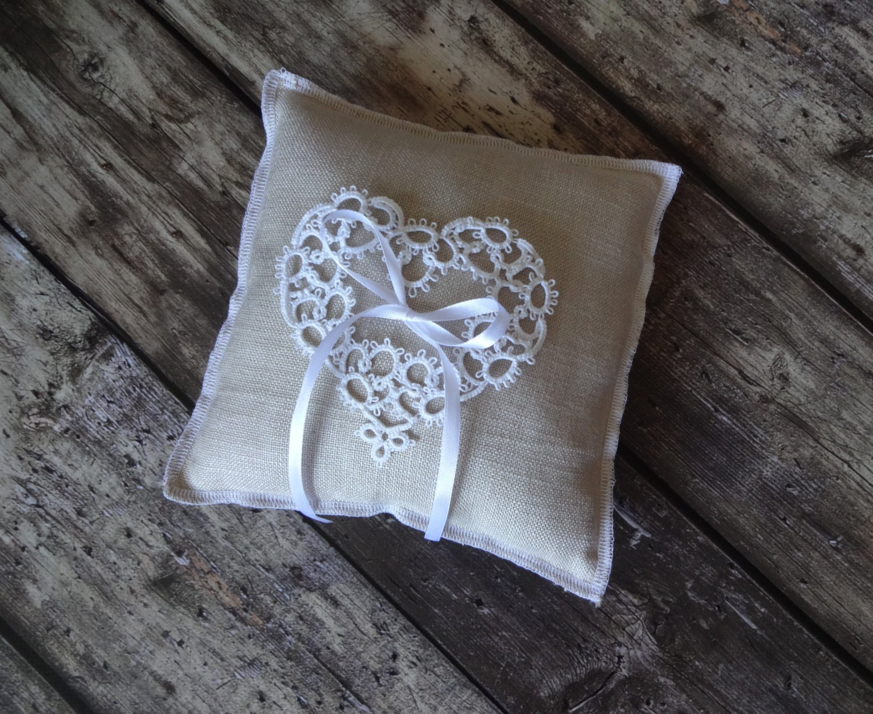 rustic ring pillow wedding ring bearer pillow rustic ring
