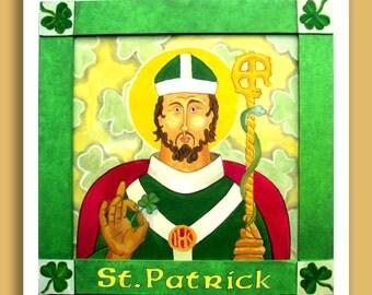 Saint Patrick - Patron Saint of Ireland - print or cards