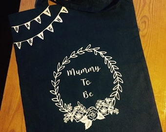 Personalised 'Mum to Be' Tote Bag. Perfect gift for any baby shower or expectant mum!