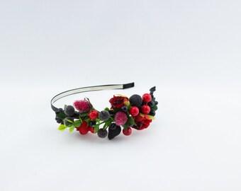 Dark berries handband