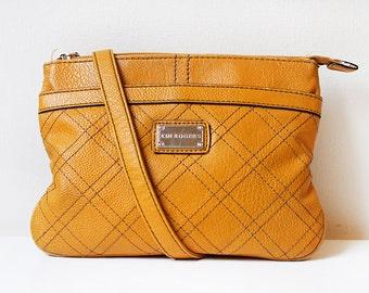 Mustard Yellow Bag, Vintage Shoulder Crossbody Bag, Kim Rogers Purse