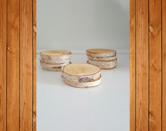 Birch-wood Coasters