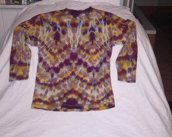 Kids upcycled tie dye ling sleeve top