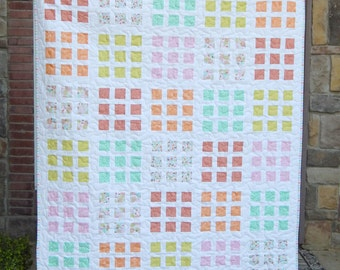 Jelly Squares Modern Lap Quilt