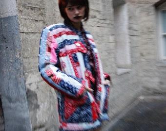 Vintage handmade in San Francsisco quilt jacket