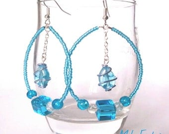 "Earrings ""Blue Mood"" / blue moods / earring blue / blue earrings"