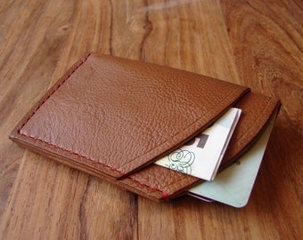 Leather credit card wallet - 16 colour options