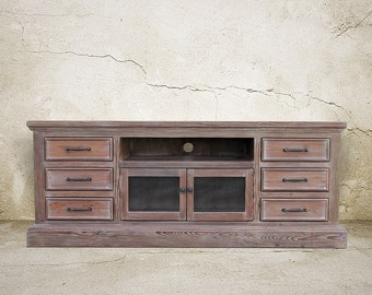 Media Console. TV Stand, Entertainment Center, Reclaimed Wood, Console Tbale, Handmade