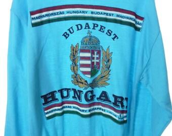 Vintage 80's Mens Budapest Hungary Pullover Sweater Medium Large