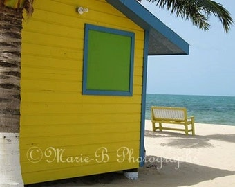 Belize - Ma Cabane - Water Shack Giclée on Fine Art paper with Frame - Limited Edition - Certificate of Authenticity
