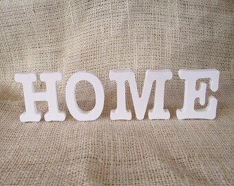"2"" Primed Wood Individual Letters That Spell HOME"