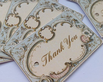 Wedding favour Small Vintage Style Tags Thank You Tags Wishing Tree Tags Shabby Chic Pack of 20