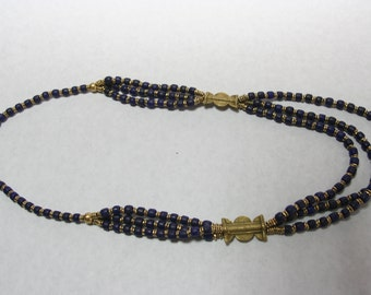 Tripple  Blue Necklace