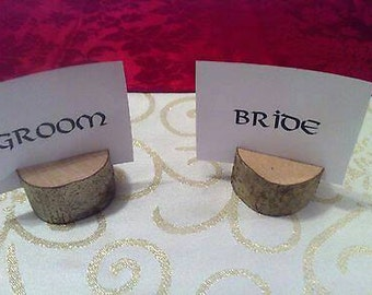 Wedding Name Place Card Holders Quality Hazel Wood X 50