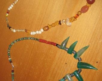 pair of vintage necklaces